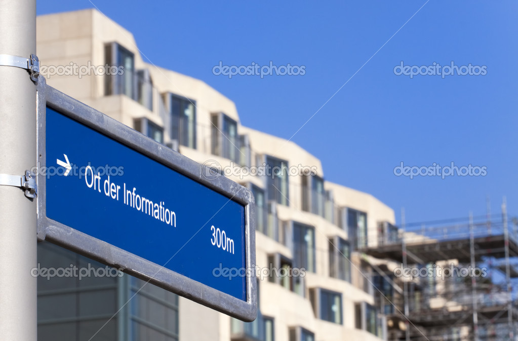 Signpost/guide in Berlin center, Germany  Stock Photo #3055801