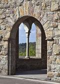 Burgfenster — Stock Photo