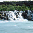 Hraunfossar waterfall — Stock Photo