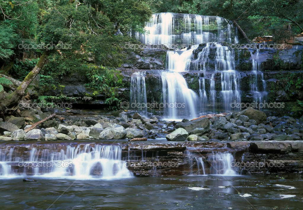 Liffey Falls is collectively a series of four distinct cascades and resides in the cool temperate rainforests of the Great Western Tiers near Deloraine between  — Stock Photo #2719948