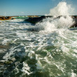 Rock and waves in the sea — Stock Photo