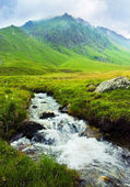 Mountain landscape with a river — Stock Photo