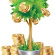 Money tree - Stock Vector