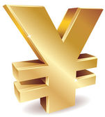 Yen symbol — Stock Vector