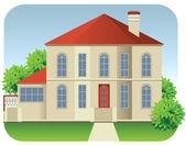 Big house — Stock Vector