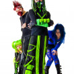 Pretentious Cyber Goth team — Stock Photo