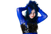 Smiling Cyber Goth girl — Stock Photo