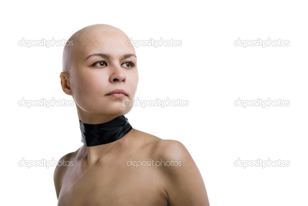 Completely bald girl — Stock Photo © Andy-pix #2928580