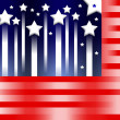 American flag stylized background — Stock Photo #3193244