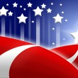 American flag stylized background - Stockfoto