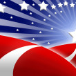 American flag stylized background — Stock Photo #3193260