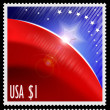 USA stamps with abstract american flag — Stock Photo