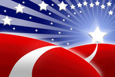 American flag stylized background — Stock Photo