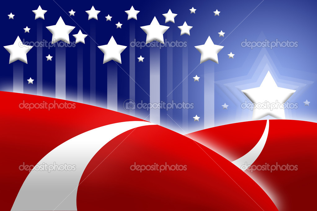 American flag stylized as abstract attractive background  Stock Photo #3193259