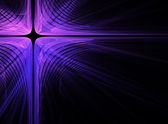Abstract dark fractal cross background — Stock Photo