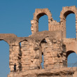 Tunisian Colosseum - dilapidated arches — Stock Photo