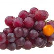 Red grapes symbolizing the difference — Stock Photo