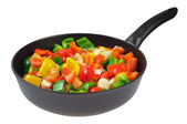 Roasting pan with the vegetables. — Stock Photo