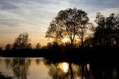 Fluss sunset 2 — Stockfoto