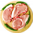 Raw pork chops — Stock Photo