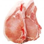 Raw pork chops — Stock Photo