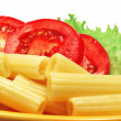 Macaroni and tomatoes — Stock Photo
