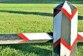 Geschilderde barrière — Stockfoto