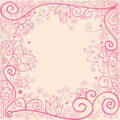 Floral pattern pink — Vector de stock