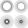 Royalty-Free Stock Vector Image: Spirograph pattern frame