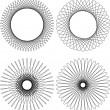 Spirograph pattern frame — Stock Vector #3076949