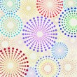 Royalty-Free Stock Vector Image: Retro fun dotted circles pattern