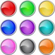 Set of vector glossy web blank buttons - Stock Vector