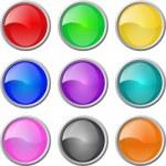 conjunto de botões em branco do vetor web lustrosa — Vetor de Stock  #3077509