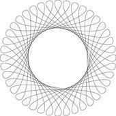 Spirograph pattern frame — Stock Vector