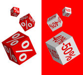 Set of discount dices — Stock Vector