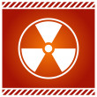 Stock Vector: Vector sign for radioactivity