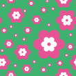 Seamless pattern with flowers — Stock Vector #3615387