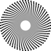 Halftone circles — Stock Vector