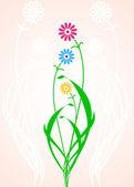 Sweet vector flowers — Stock Vector