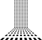 Pontilhada abstrato retrô — Vetor de Stock