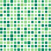 Green square mosaic background — Stock Vector