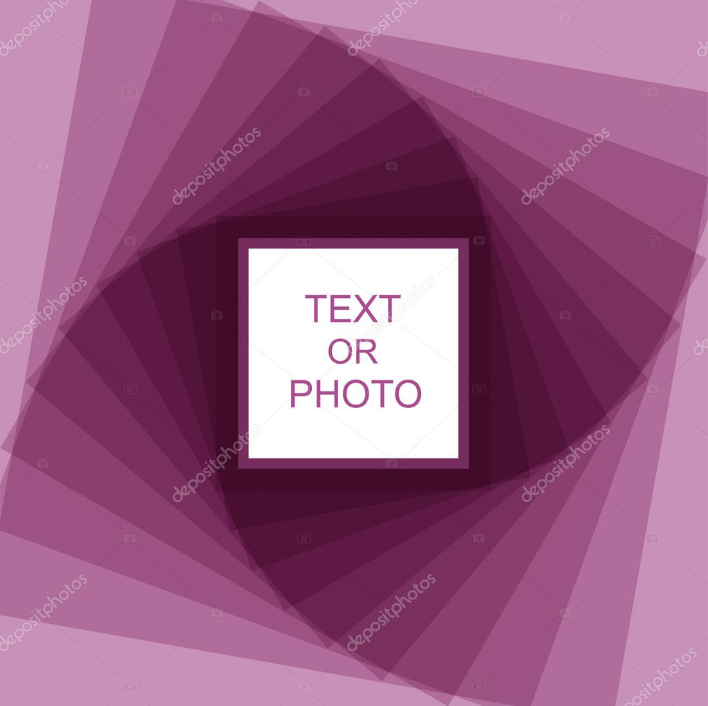Violet spiral retro vector frame — Stock Vector #3614229