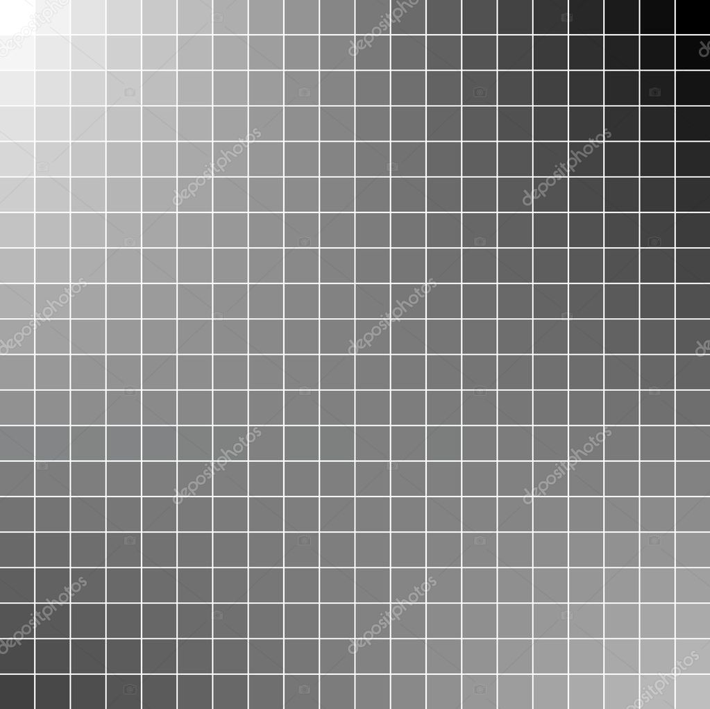 Black and white square mosaic background — Stock Vector ...