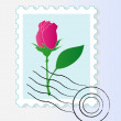 Stock Vector: Stamp mark with rose