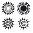 Spirograph ornament tattoo design elements — Stock Vector