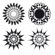 Stock Vector: Spirograph ornament tattoo design elements
