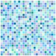 Stock Vector: Square blue mosaic background