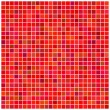 Square red mosaic background — Stock Vector