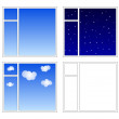 Stock Vector: 4 windows