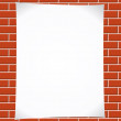Notepaper on brickwall — Stock Vector